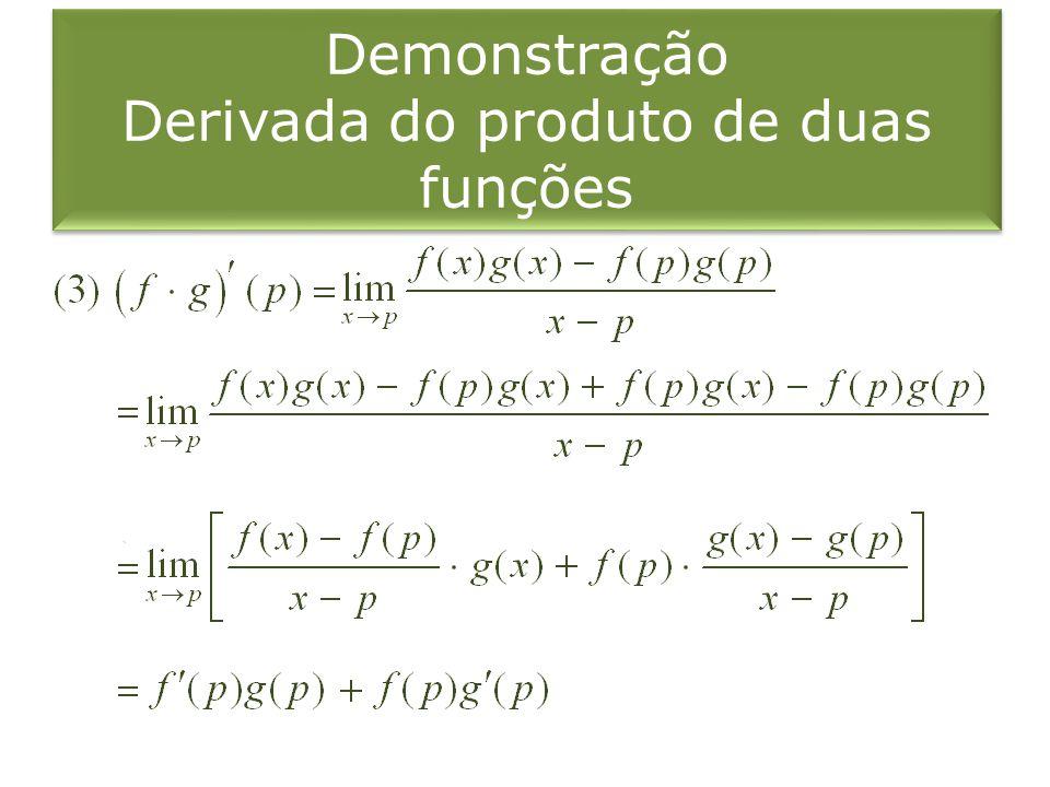 Demonstração Derivada do produto de duas funções