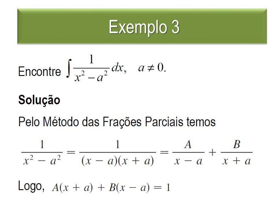 Exemplo 3 Exemplo 3