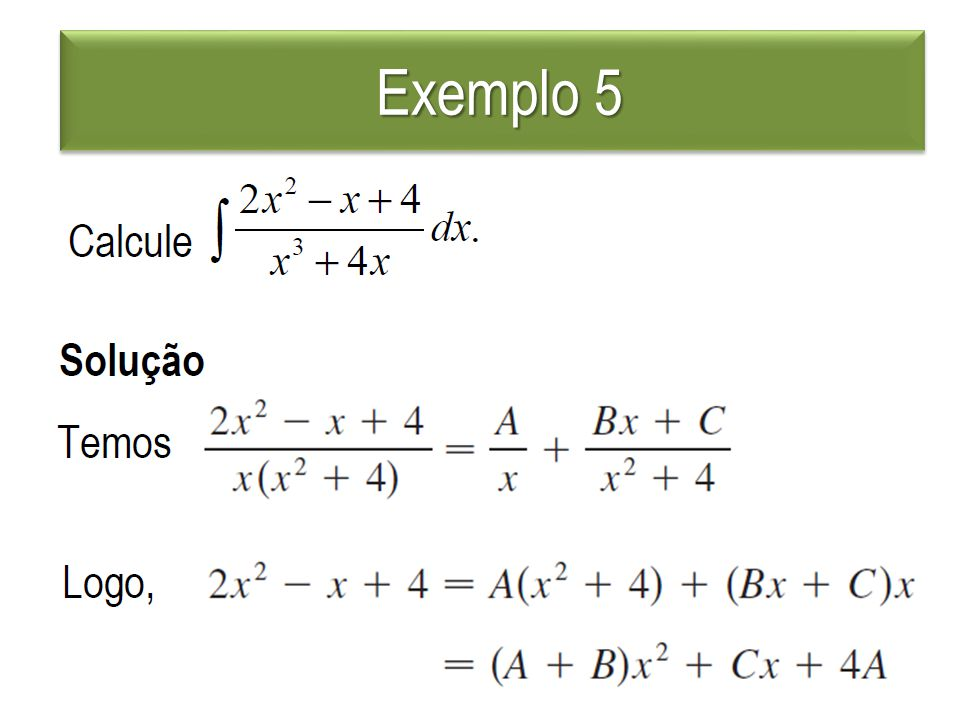 Exemplo 5 Exemplo 5