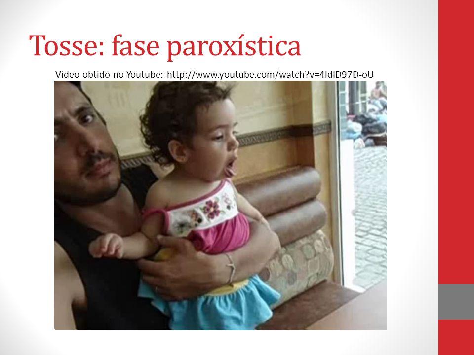 Tosse: fase paroxística Vídeo obtido no Youtube: http://www.youtube.com/watch?v=4ldID97D-oU