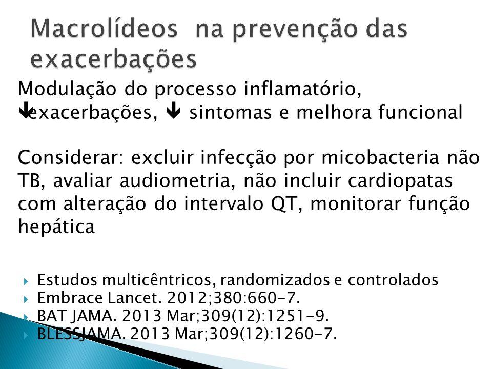 Estudos multicêntricos, randomizados e controlados Embrace Lancet. 2012;380:660-7. BAT JAMA. 2013 Mar;309(12):1251-9. BLESSJAMA. 2013 Mar;309(12):1260