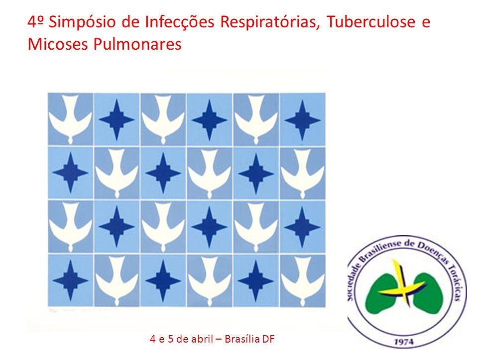 4º Simpósio de Infecções Respiratórias, Tuberculose e Micoses Pulmonares 4 e 5 de abril – Brasília DF