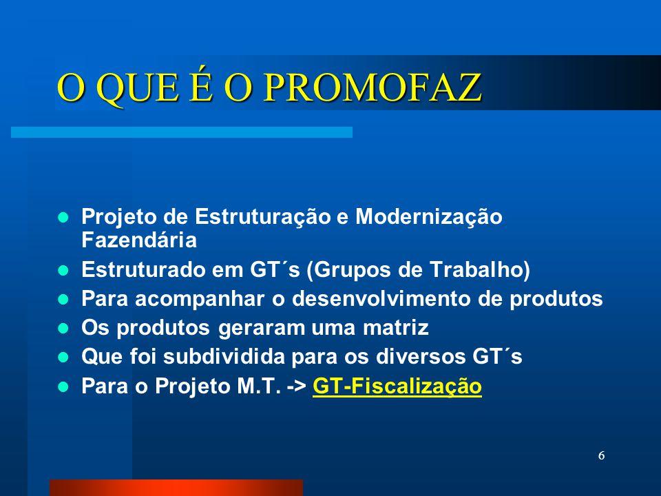 7 GT Fiscalização Desenvolvimento e acompanhamento da matriz de produtos relacionados a AUDITORIA e MERCADORIAS EM TRÂNSITO