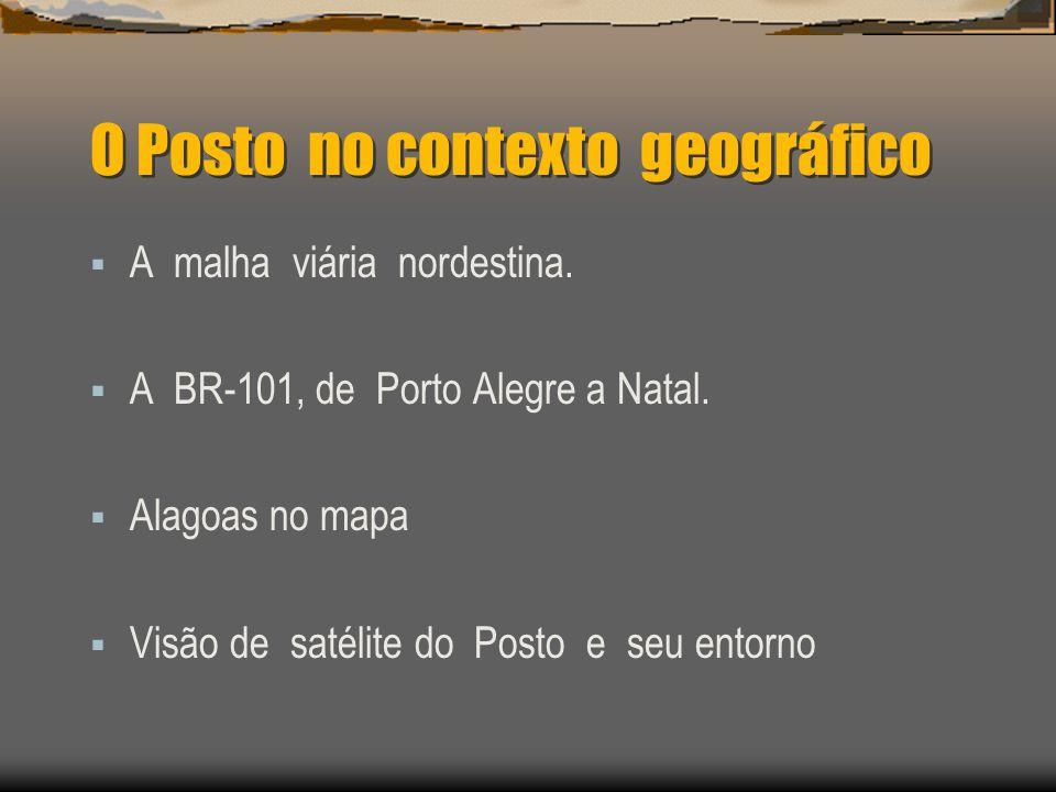 O Posto no contexto geográfico A malha viária nordestina.