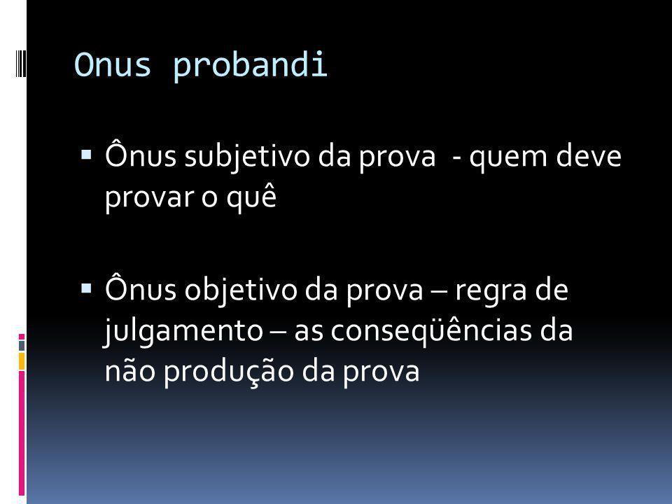 Regra geral de distribuição dos ônus da prova Art.