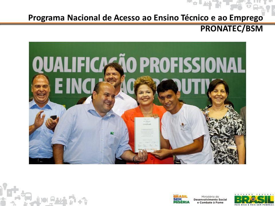 Mapa da Pobreza Programa Nacional de Acesso ao Ensino Técnico e ao Emprego PRONATEC/BSM