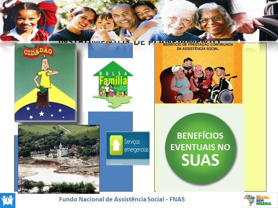 INSTRUMENTOS DE PLANEJAMENTO Fundo Nacional de Assistência Social - FNAS