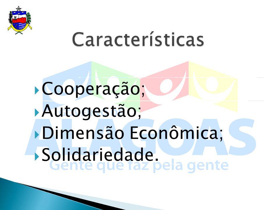 Cooperação; Autogestão; Dimensão Econômica; Solidariedade.