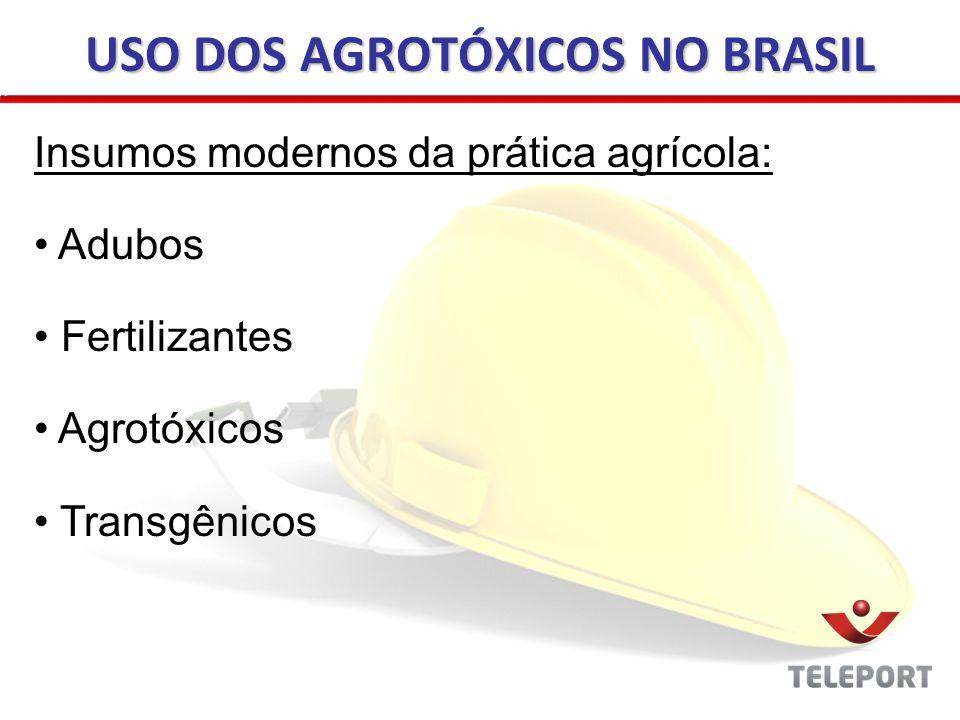 Polêmica - Agrotóxicos X Defensivos Agrícolas - Riscos ao Meio Ambiente e ao Homem X Risco do Comprometimento de Safras Agrícolas - Ecologistas e defensores do meio ambiente X indústrias produtora USO DOS AGROTÓXICOS NO BRASIL