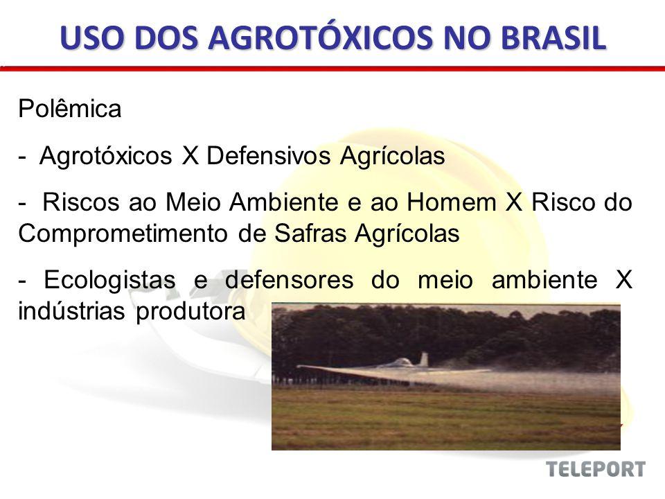 Polêmica - Agrotóxicos X Defensivos Agrícolas - Riscos ao Meio Ambiente e ao Homem X Risco do Comprometimento de Safras Agrícolas - Ecologistas e defe