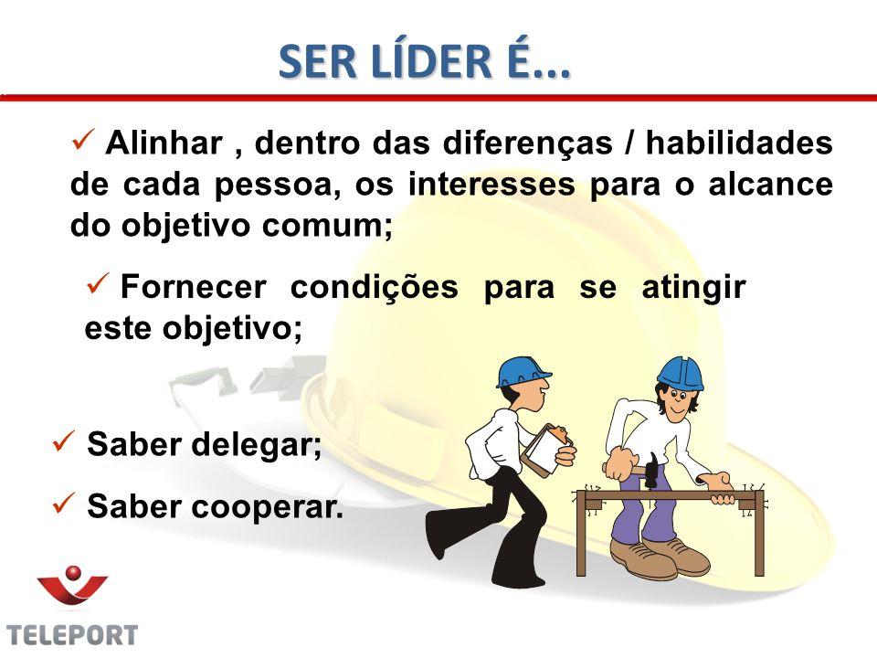 Saber delegar; Saber cooperar.