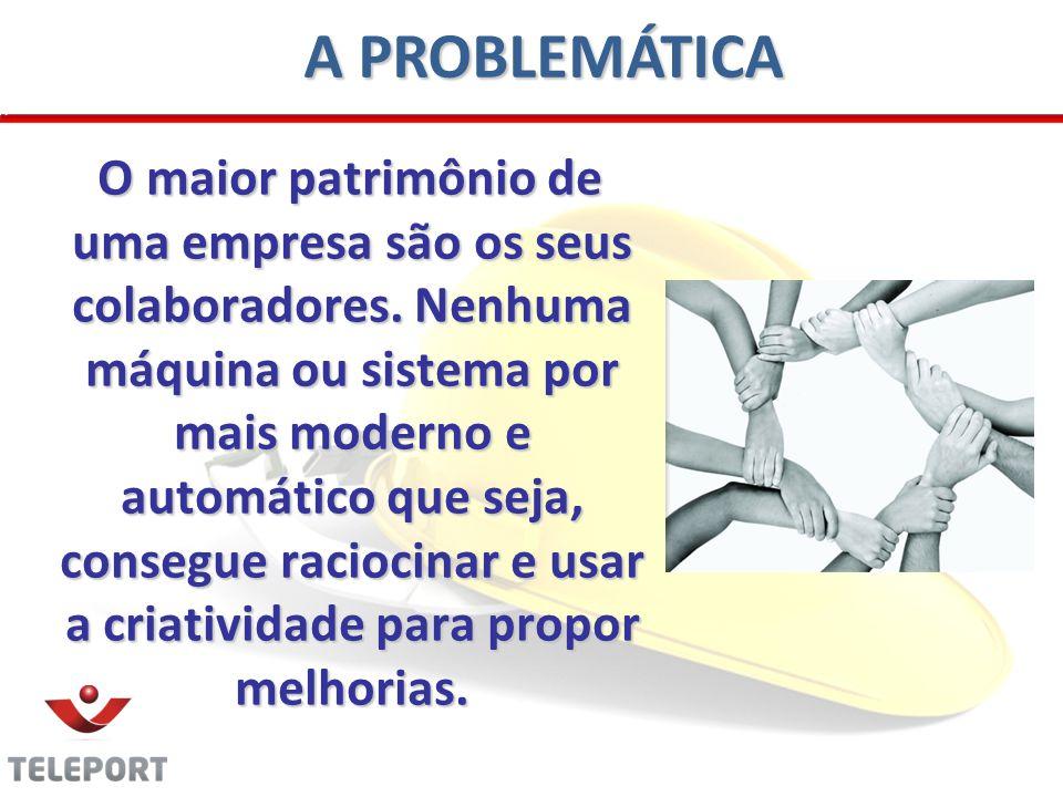 A PROBLEMÁTICA O maior patrimônio de uma empresa são os seus colaboradores. Nenhuma máquina ou sistema por mais moderno e automático que seja, consegu