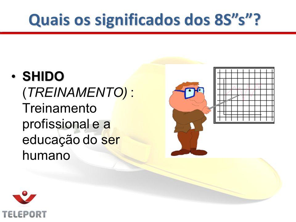 Quais os significados dos 8Ss? SHIDOSHIDO (TREINAMENTO) : Treinamento profissional e a educação do ser humano