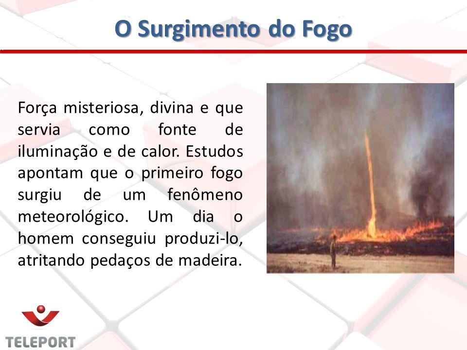 O Surgimento do Fogo Força misteriosa, divina e que servia como fonte de iluminação e de calor. Estudos apontam que o primeiro fogo surgiu de um fenôm
