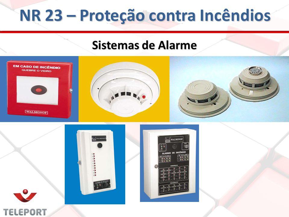 Sistemas de Alarme NR 23 – Proteção contra Incêndios