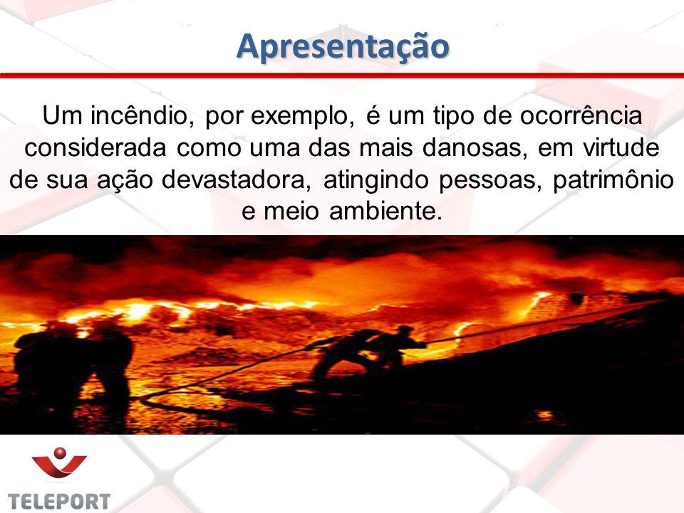 Apresentação O pânico causado por um incêndio pode desencadear uma série de outros riscos, em decorrência da maneira como as pessoas procuram fugir do local em chamas (Sinistro).