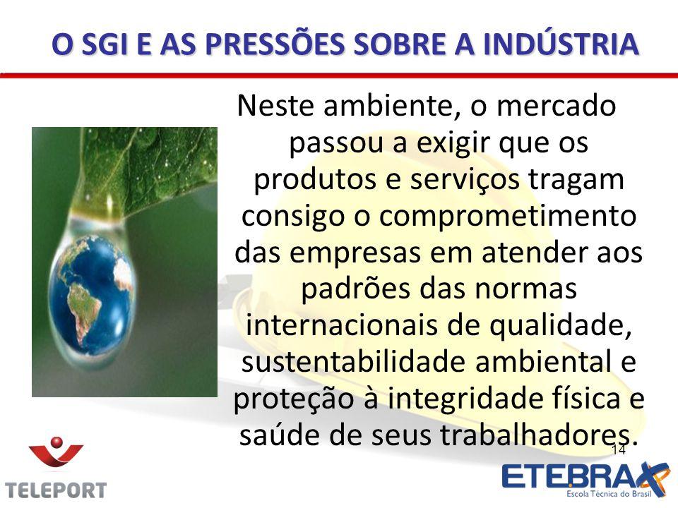 14 Neste ambiente, o mercado passou a exigir que os produtos e serviços tragam consigo o comprometimento das empresas em atender aos padrões das norma