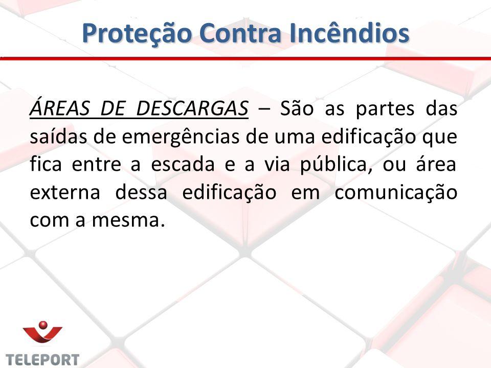 ESCADAS DE EMERGÊNCIA - Permite que a população atinja os pavimentos, e consequentemente, as áreas de descargas de uma edificação, de forma a preserva