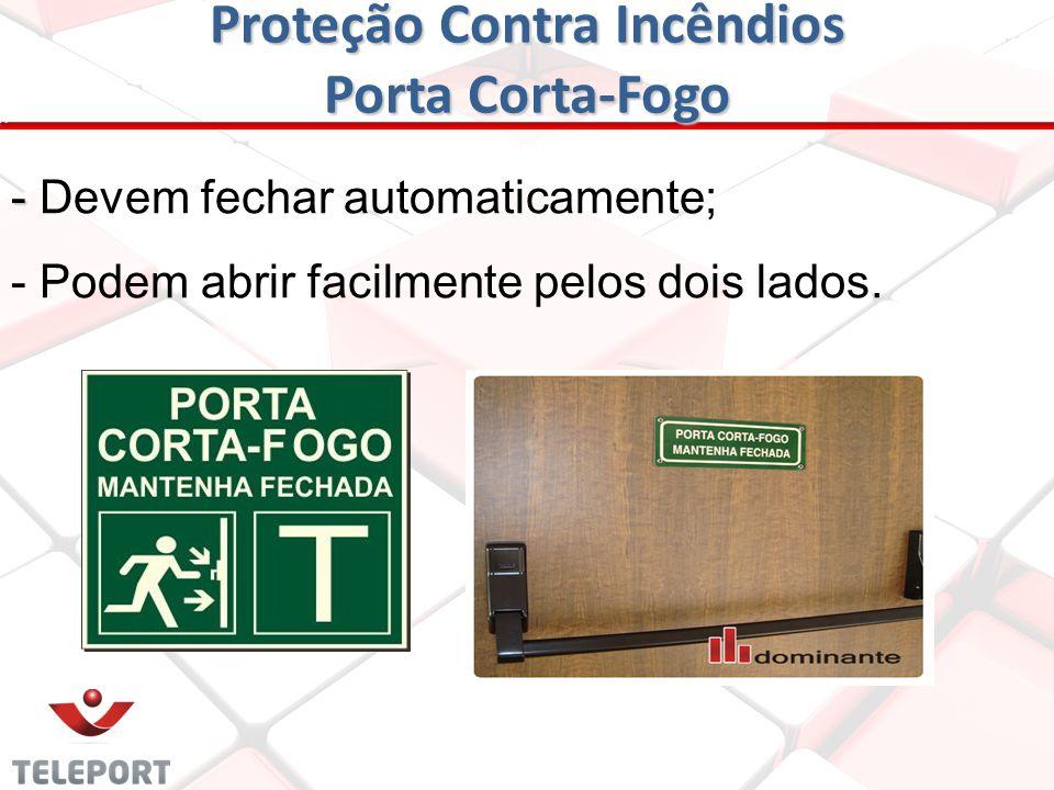 Proteção Contra Incêndios Escadas de Emergência - - Não podem ser feitas com material combustível. - Devem ser inteiramente de material resistente ao