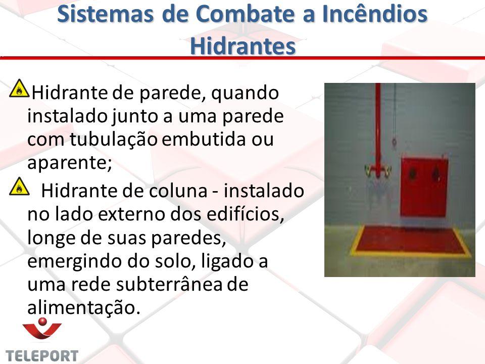 Sistemas de Combate a Incêndios Hidrantes Os hidrantes, instalados interna ou externamente, devem alcançar qualquer ponto da edificação por um jato dá