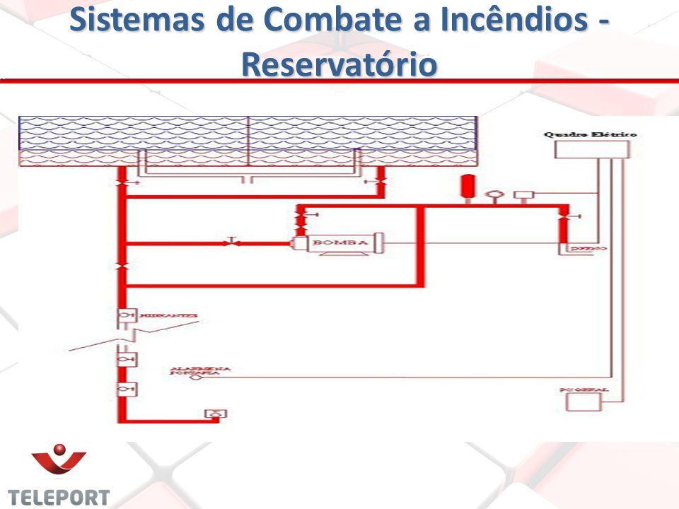 Sistemas de Combate a Incêndios - Reservatório Os elevados devem ter altura suficiente para atender as necessidades do projeto, construído especialmen