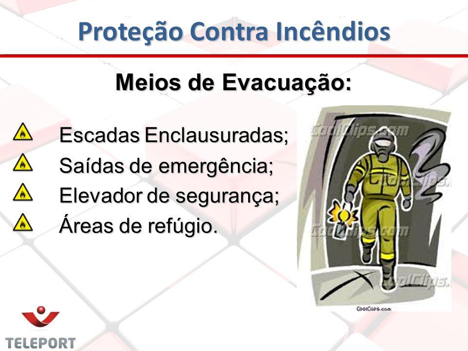 Proteção Contra Incêndios Meios que retardam a propagação do fogo Meios que retardam a propagação do fogo: Parede corta-fogo; Porta corta-fogo; Pisos
