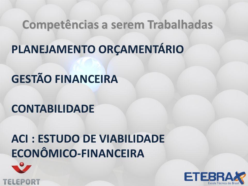 PLANEJAMENTO ORÇAMENTÁRIO GESTÃO FINANCEIRA CONTABILIDADE ACI : ESTUDO DE VIABILIDADE ECONÔMICO-FINANCEIRA Competências a serem Trabalhadas