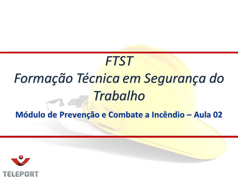 Módulo de Prevenção e Combate a Incêndio – Aula 02 FTST Formação Técnica em Segurança do Trabalho
