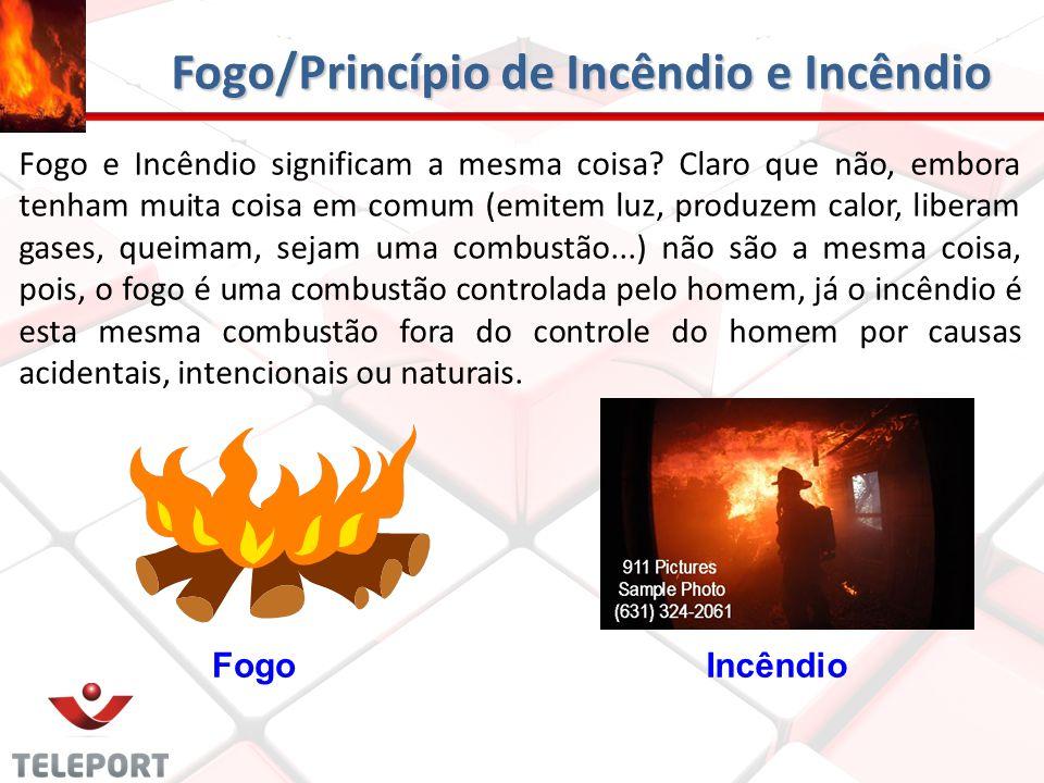 Fogo/Princípio de Incêndio e Incêndio Fogo e Incêndio significam a mesma coisa? Claro que não, embora tenham muita coisa em comum (emitem luz, produze