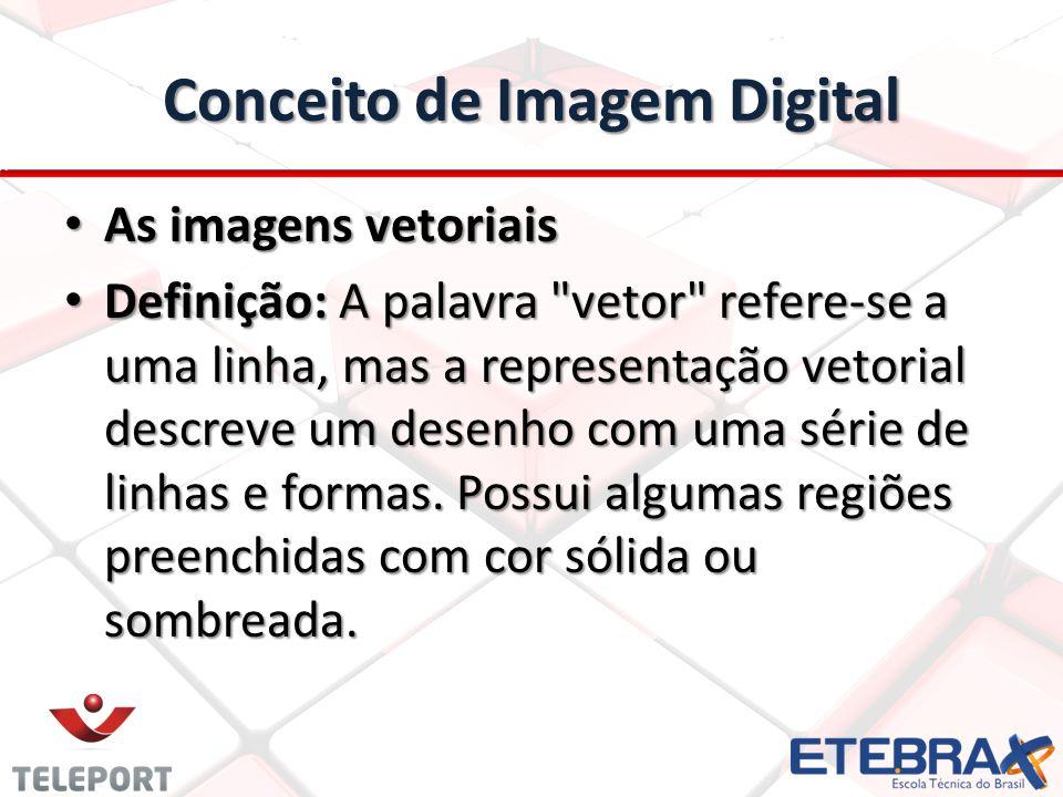 Conceito de Imagem Digital As imagens vetoriais As imagens vetoriais Definição: A palavra