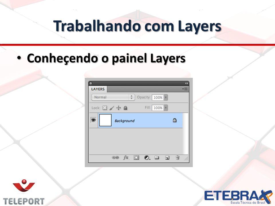 Trabalhando com Layers Opções do Painel Opções do Painel 1 – Link Layers: Criar um grupo de layers sem criar uma pasta.