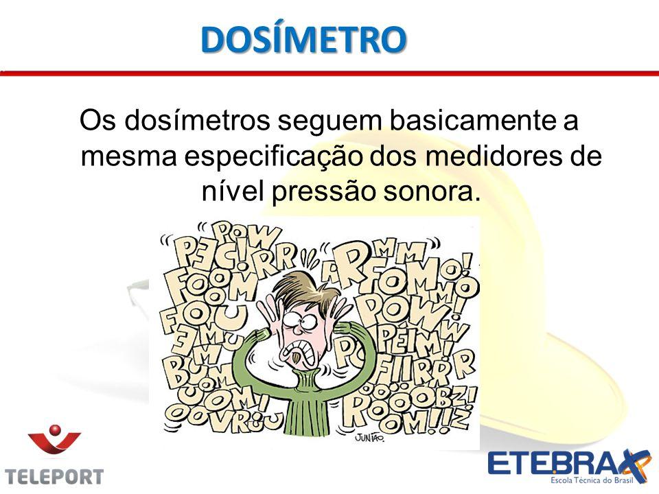 Os dosímetros seguem basicamente a mesma especificação dos medidores de nível pressão sonora. DOSÍMETRO