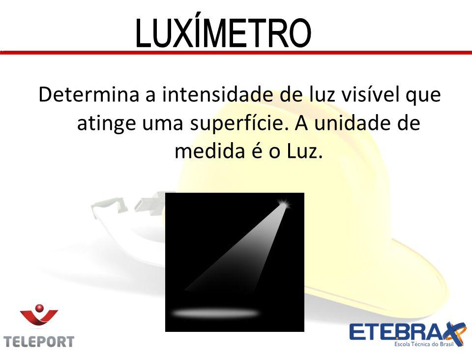 Determina a intensidade de luz visível que atinge uma superfície. A unidade de medida é o Luz.