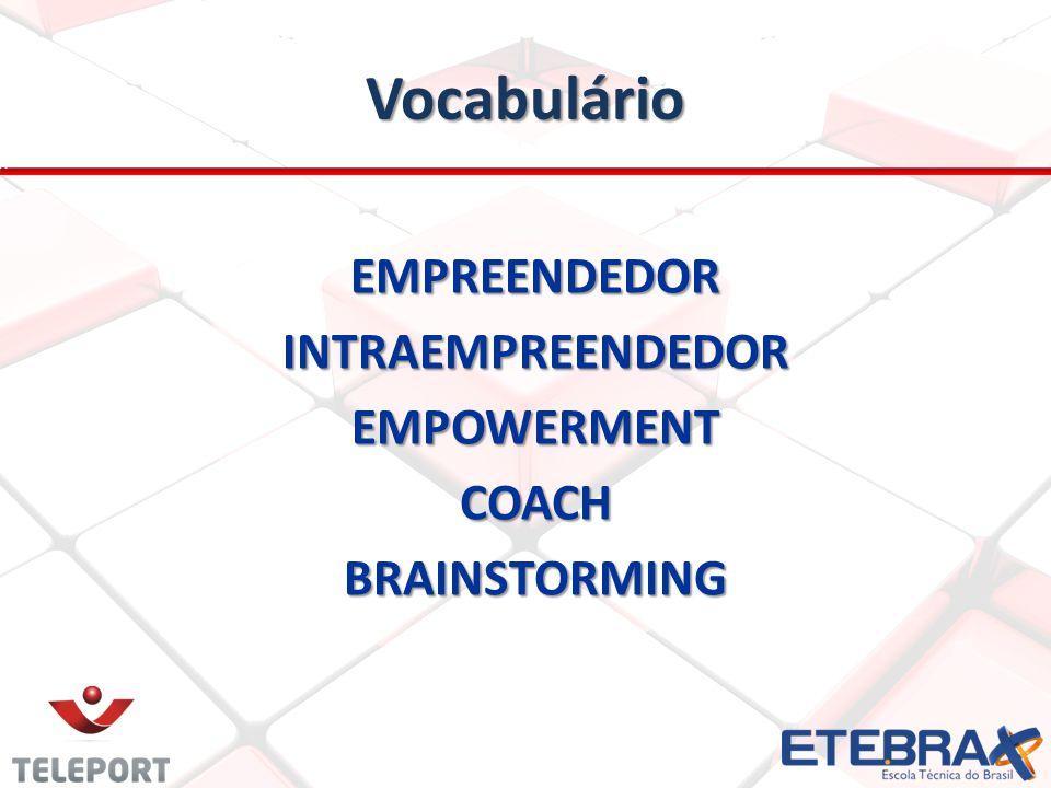 Vocabulário EMPREENDEDORINTRAEMPREENDEDOREMPOWERMENTCOACHBRAINSTORMING