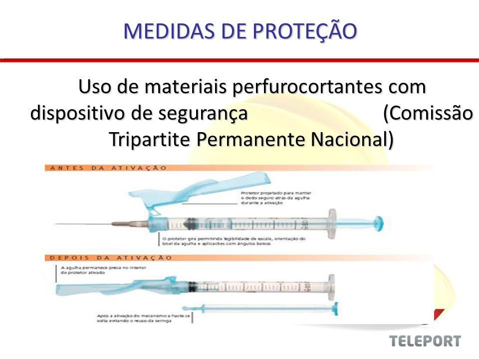 Uso de materiais perfurocortantes com dispositivo de segurança (Comissão Tripartite Permanente Nacional) Uso de materiais perfurocortantes com disposi