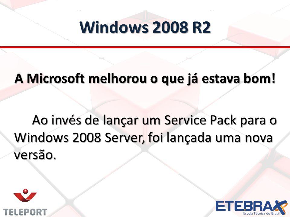 A Microsoft melhorou o que já estava bom! Ao invés de lançar um Service Pack para o Windows 2008 Server, foi lançada uma nova versão.