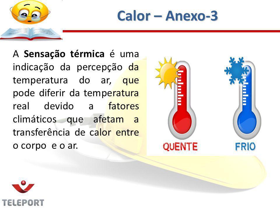 A Sensação térmica é uma indicação da percepção da temperatura do ar, que pode diferir da temperatura real devido a fatores climáticos que afetam a transferência de calor entre o corpo e o ar.