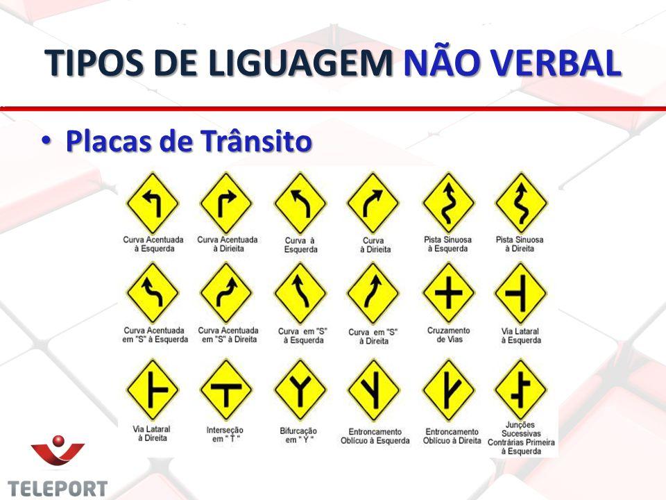 TIPOS DE LIGUAGEM NÃO VERBAL Placas de Trânsito Placas de Trânsito