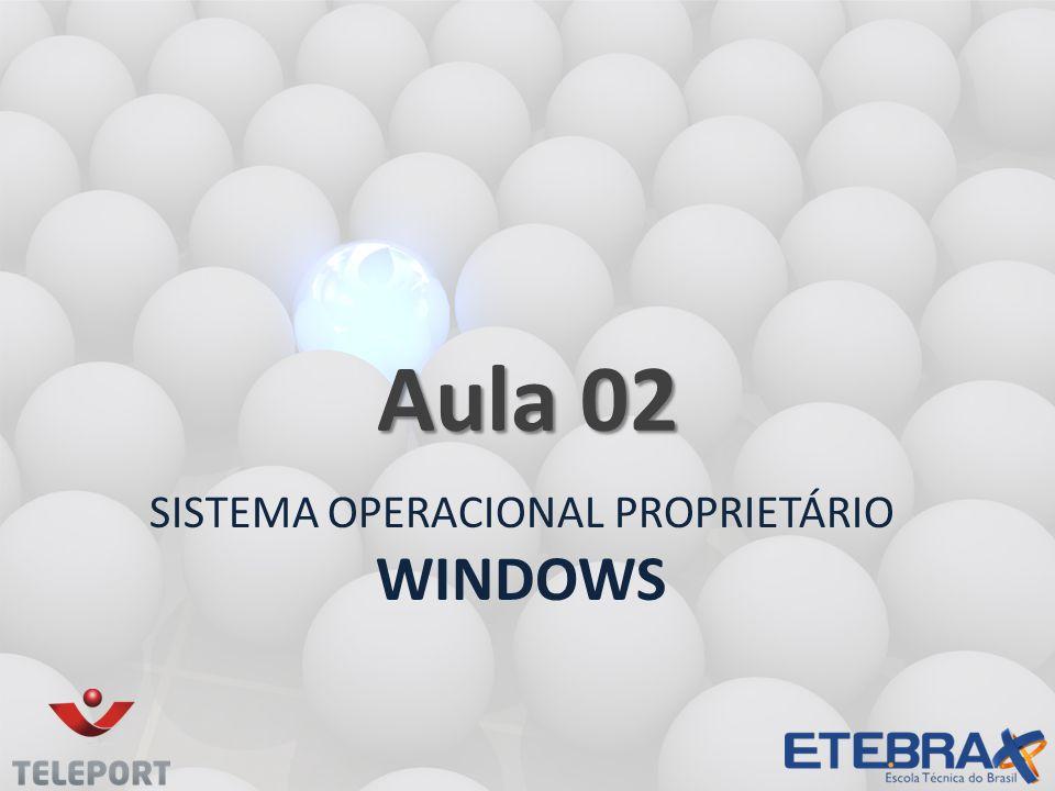 SISTEMA OPERACIONAL PROPRIETÁRIO WINDOWS Aula 02