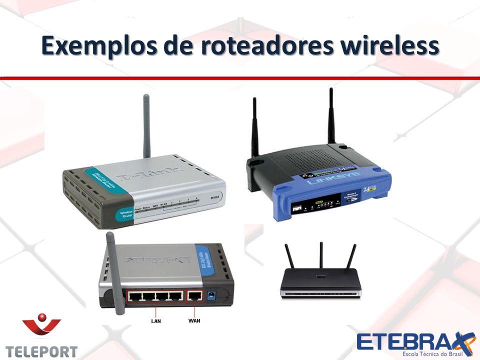 Padrões IEEE 802.11 802.11b: 802.11b: foi a 1ª versão a chegar no mercado; foi a 1ª versão a chegar no mercado; mais lento, alcançar maior; mais lento, alcançar maior; Menos comum à medida que baixa o custo dos padrões mais rápidos; Menos comum à medida que baixa o custo dos padrões mais rápidos; Transmite na faixa de frequência de 2,4 GHz do radio espectro; Transmite na faixa de frequência de 2,4 GHz do radio espectro; Consegue se comunicar em até 11 megabits de dados p/segundo e usa o código CCK complimentary code keying (chaveamento de código complementar).