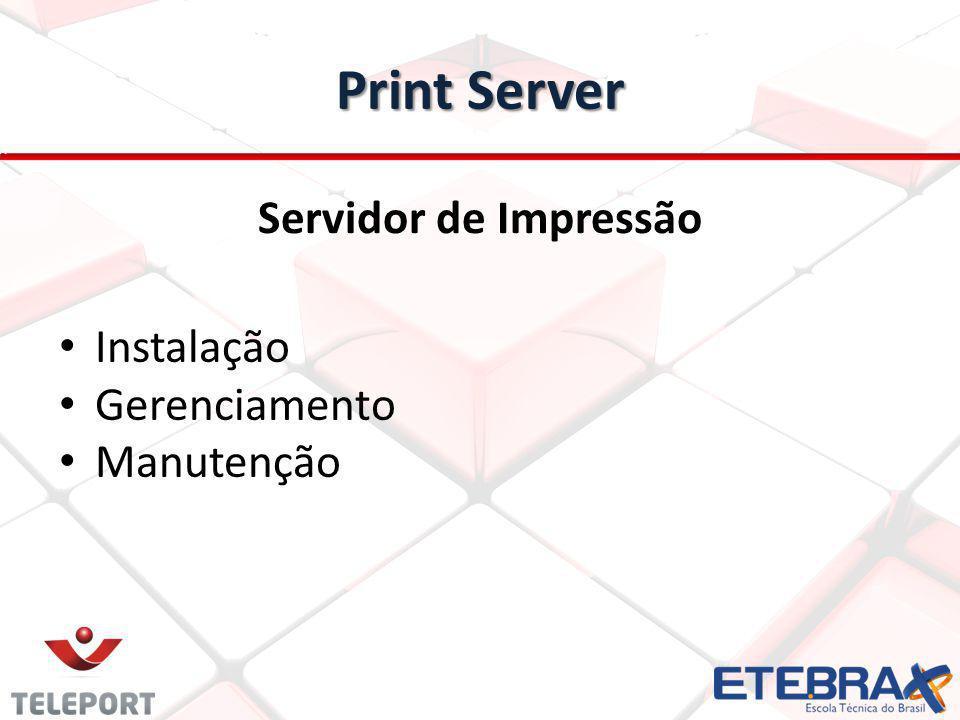 Print Server Servidor de Impressão Instalação Gerenciamento Manutenção