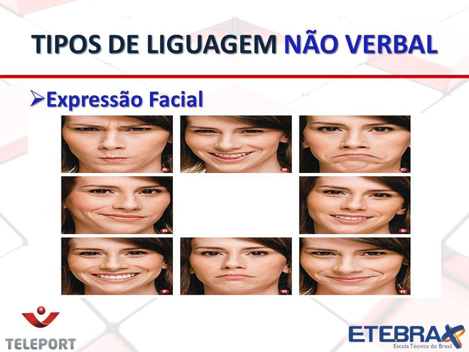 TIPOS DE LIGUAGEM NÃO VERBAL Expressão Facial Expressão Facial