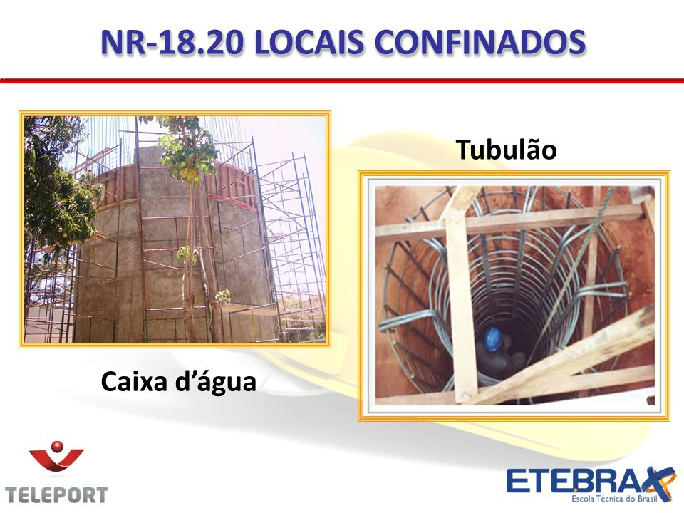 NR-18.20 LOCAIS CONFINADOS Tubulão Caixa dágua