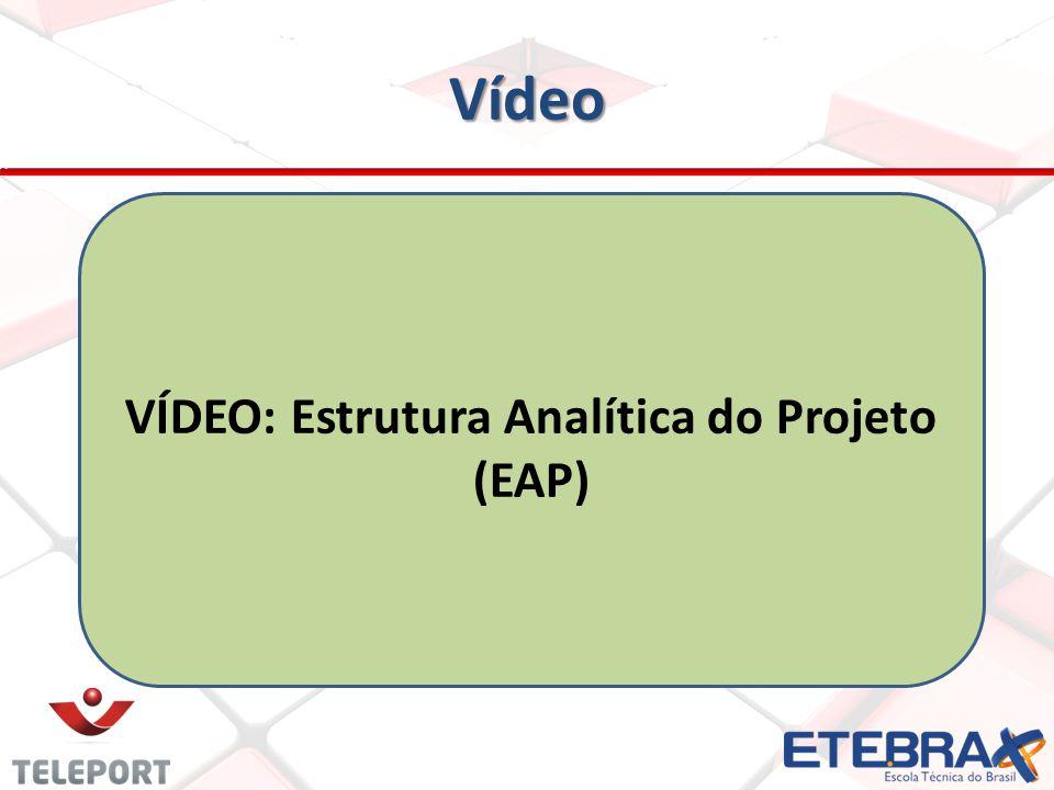 Vídeo VÍDEO: Estrutura Analítica do Projeto (EAP)