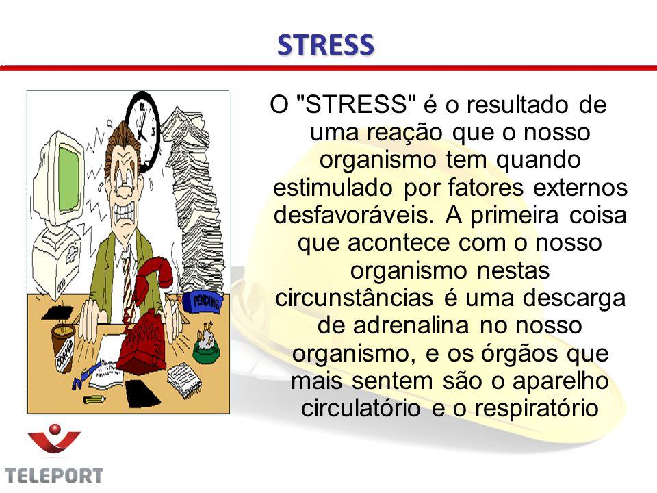 O STRESS é o resultado de uma reação que o nosso organismo tem quando estimulado por fatores externos desfavoráveis.
