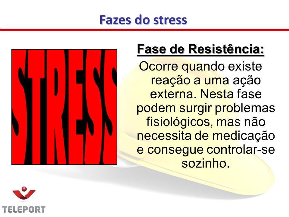 Fase de Resistência: Ocorre quando existe reação a uma ação externa.