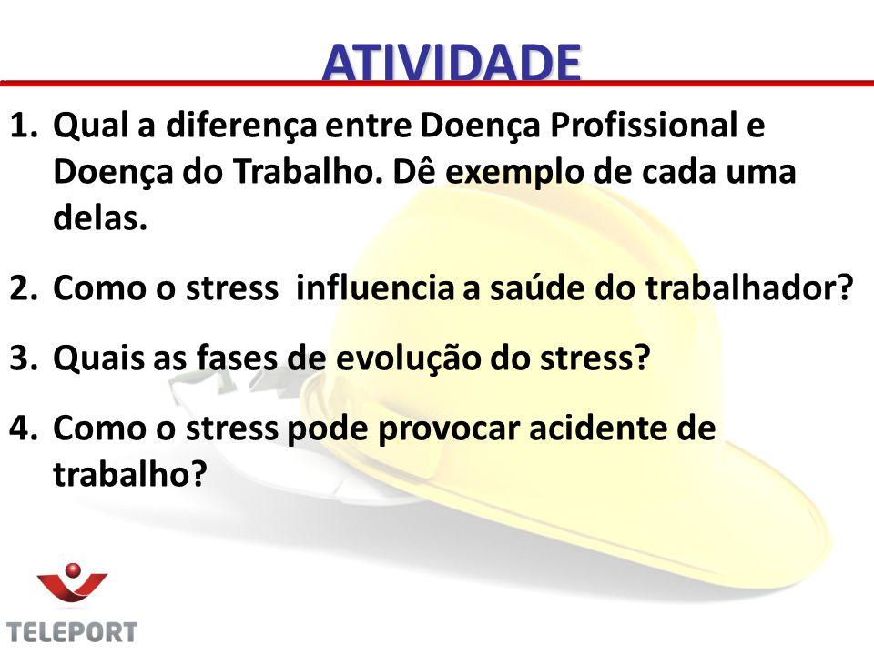 ATIVIDADE 1.Qual a diferença entre Doença Profissional e Doença do Trabalho.