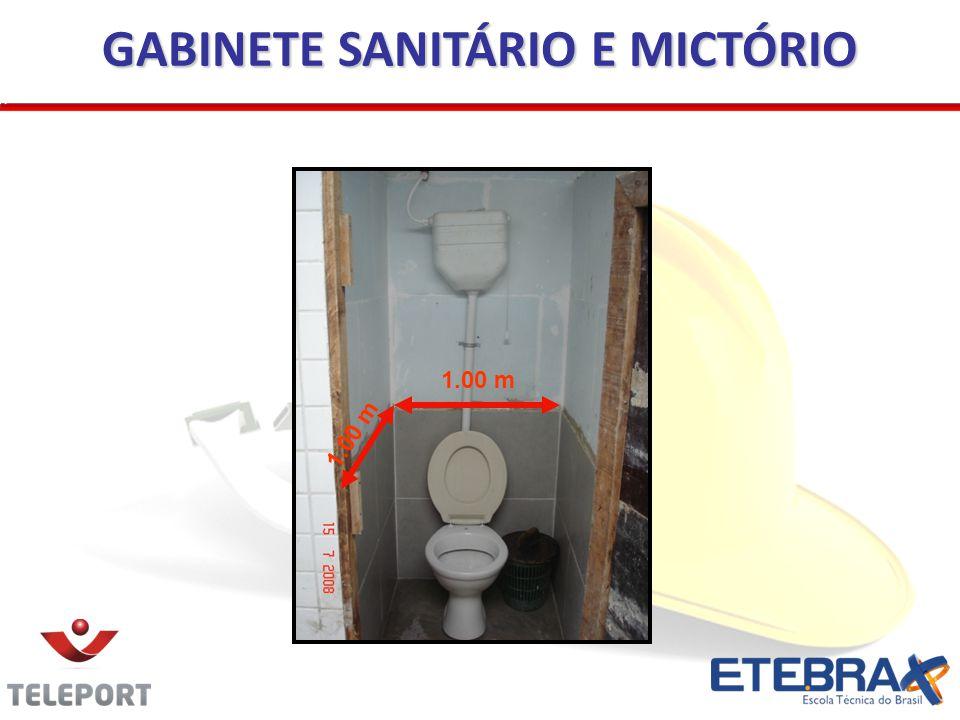 GABINETE SANITÁRIO E MICTÓRIO 1.00 m