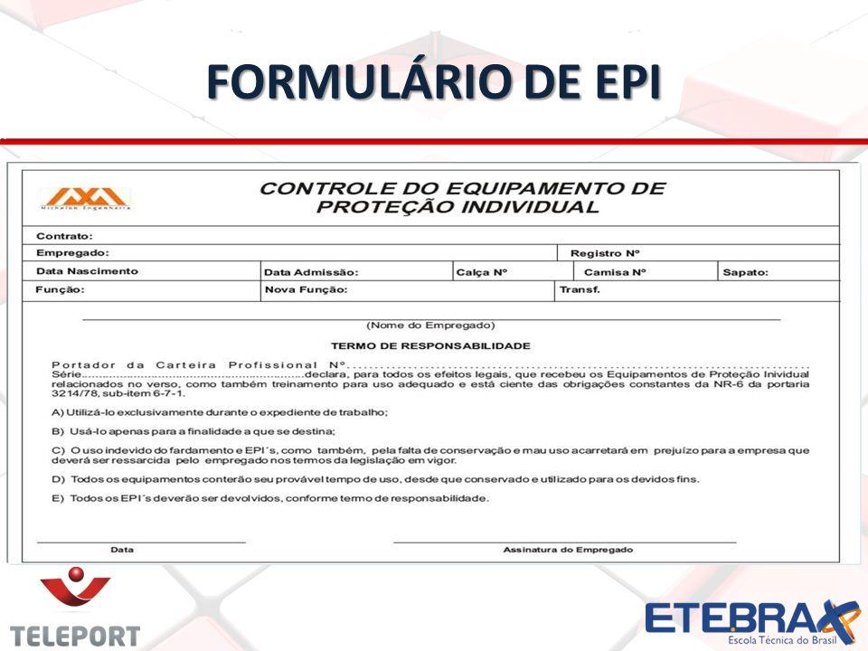 FORMULÁRIO DE EPI