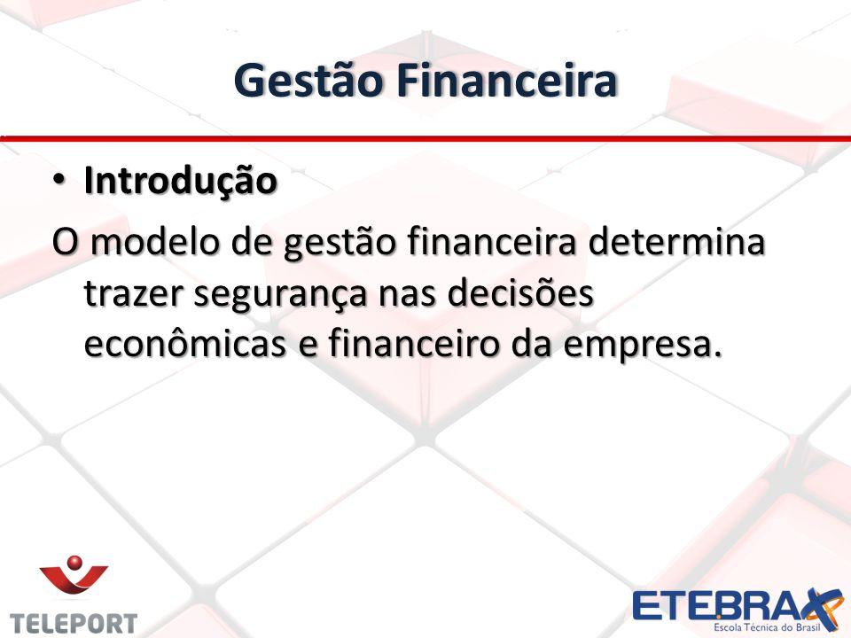 Gestão FinanceiraGestão Financeira Introdução Introdução O modelo de gestão financeira determina trazer segurança nas decisões econômicas e financeiro